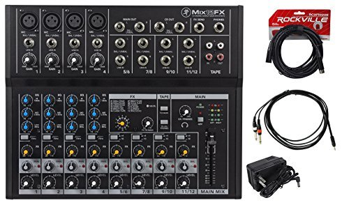 Mackie Mix12FX 12-Channel Compact Mixer W/FX Proven Performance + Free Cables by Mackie