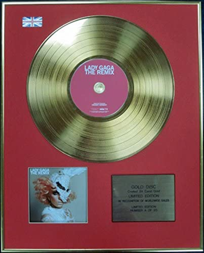 Edition Ltd The REMIX Disque Or 24 carats LADY GAGA