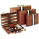 Classic Backgammon Set, Brown/White