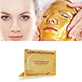Anti Aging Lace Face Mask Hunputa 24K Gold Bio-Collagen Face Facial Mask Anti Wrinkles/Aging, High Moisture