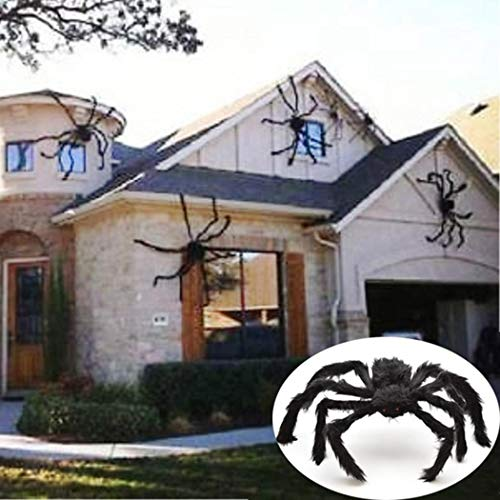 Halloween Spider Prop (Erholi Halloween Solid Decorations Simulation Plush Spider Decorative Props Photobooth Props(75 x 75cm/29.5 x)