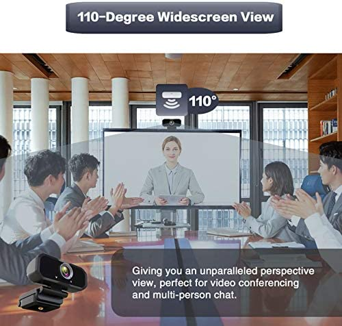 WEBCAM 1080P HD COMPUTER CAMERA - MICROPHONE LAPTOP USB PC WEBCAM WITH PRIVACY SHUTTER AND TRIPOD STAND, 110 DEGREE LIVE STREAMING WIDESCREEN RECORDING PRO VIDEO WEB CAMERA FOR CALLING, CONFERENCING