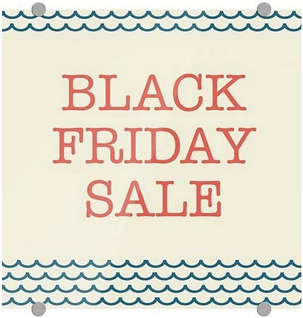 Nautical Wave Premium Acrylic Sign CGSignLab 16x16 Black Friday Sale