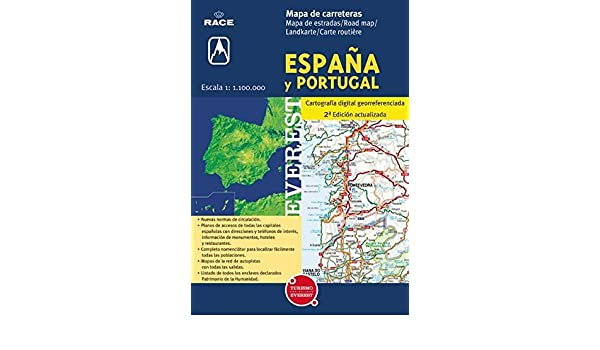 Mapa de carreteras de España y Portugal. 1:1.100.000: Cartografía ...