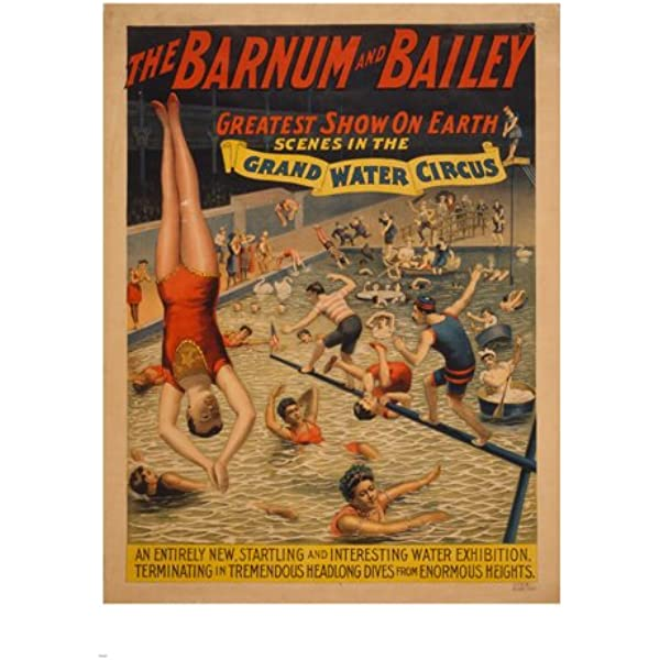 24x32 1890s Barnum /& Bailey Circus Train and Tents Poster