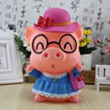 Kawaii Cute Cartoon Female doctor Mrs. pig Piggy Bank Resin Personalized Baby Nursery Decor Home Furnishing decoration