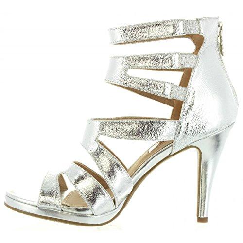 Sandalias de Mujer XTI 30613 METALIZADO PLATA