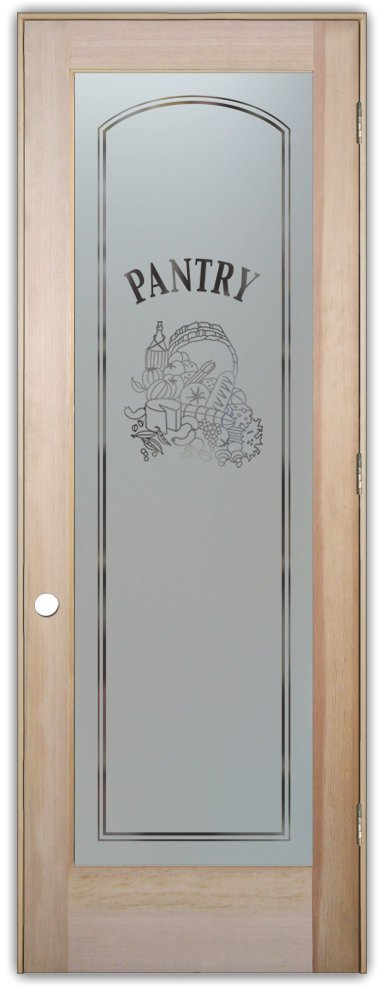 Charmant Pantry Door   Sans Soucie Etched Glass Interior Door, Doug Fir, Vino Design  24 In. X 80 In. Prehung Right Hand Out Swing 4 9/16 In. Matching Jamb.