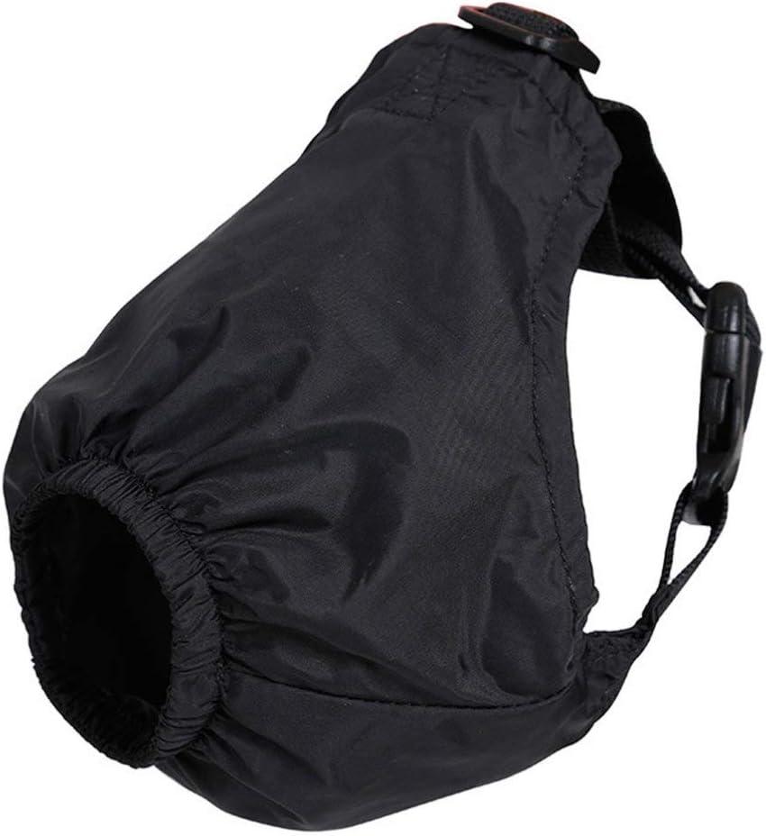 POPETPOP Mascarilla Calmante para Mascotas Máscara para Ojos Sombreado de Nylon Máscara de Ansiedad Venda para Perros para El Aseo contra La Enfermedad del Automóvil (Negro L)