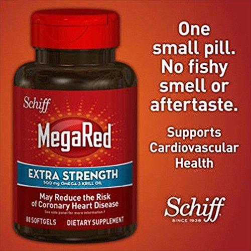 Doaaler(TM) Schiff Mega Red Extra Strength 500 mg Omega-3 Krill Oil 80 Softgels