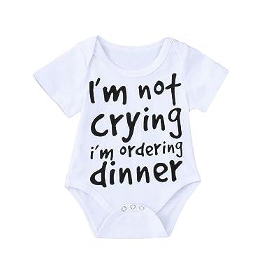 3993b282f6c Webla(TM) Toddler Kids Baby Boys Girls White Outfits Clothes Infant Children  Newborn Letter Print Short Sleeve Romper Summer Jumpsuit Playsuit for 3-24  ...