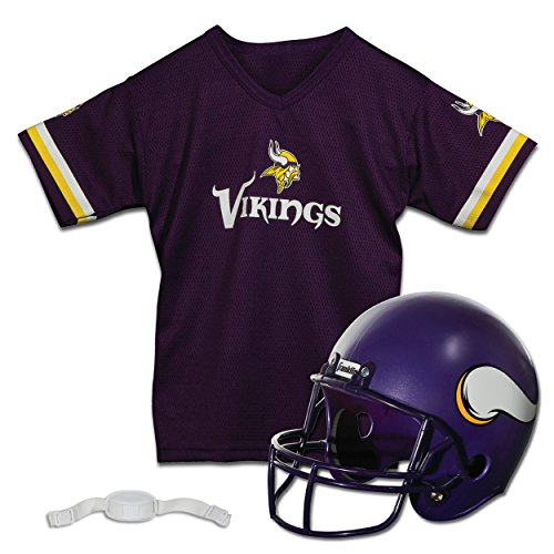 Franklin Sports NFL Minnesota Vikings Replica Youth Helmet and Jersey Set -