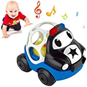 BIRANCO. Rattle and Roll Police Cartoon Car Toy Gift for Crawling Babies