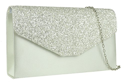 Girly Handbags - Cartera de mano de Material Sintético para mujer marfil