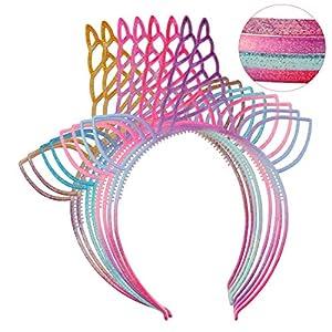 XIMA 12pcs Plastic Cat Ears Girls Headbands Rabbit Ear Hairbands Bows Headbands Bunny Rabbit Headear Hair Accessory