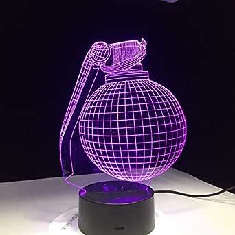 Bomb Design 3D Lámpara LED Escritorio Battle Royale para Boyfriend ...