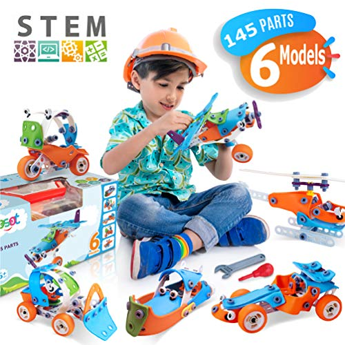 STEM Toys, Educational Engineering Model Building Set, Best Erector Kit, Creative DIY Construction STEM Learning Toy for Kids, Toddlers, Boy, Girl Age 5, 6, 7, 8, 9 Years Old - Build and Play