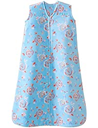 SleepSack, Micro-fleece, Pretty Floral, Aqua, Large