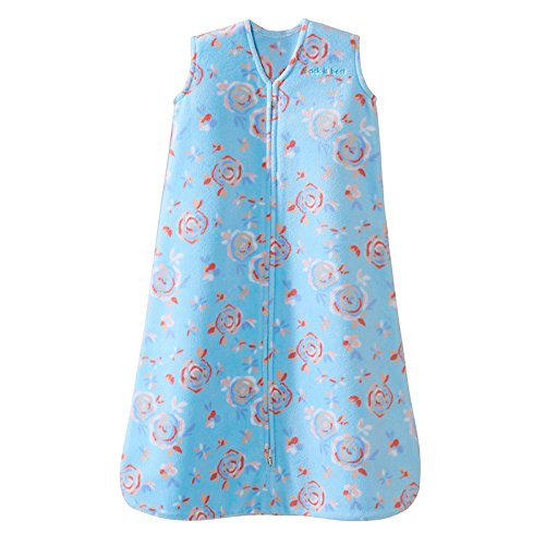 Halo Sleepsack, Micro-fleece, Pretty Floral, Aqua, Xlarge