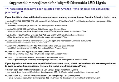Fulight True-Color ¤ LED F15T8 Tube Light (Dimmable) - 18'' (17-3/4'' Actual Length) 1.5FT 7W, Cool White 4000K, Double-End Powered, Frosted Cover, Works from 110-120VAC by Fulight (Image #2)