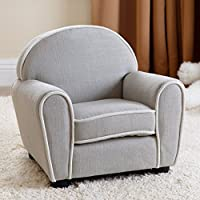 Abbyson Living Kids Sophie Fabric Baby Armchair in Gray