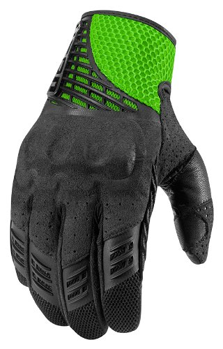 Icon Sanctuary Leather Gloves Green XL 3301-2096