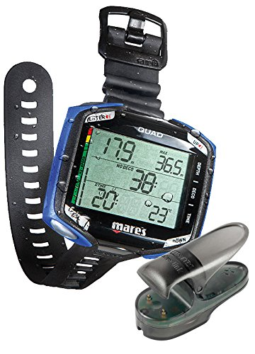 Mares BLUE Quad Computer and FREE Bluetooth BlueLink Bluetooth Adapter (Wrist Dive Smart Mares Computer)
