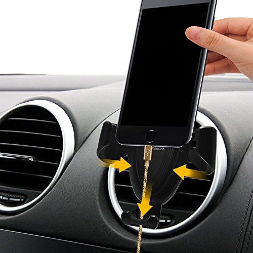 Car Phone Holder, Maxpouch Phone Smart Mount Gravity Auto-Lock,Universal Cradle Stand Holder for iPhone X / 8/8 Plus / 7/7 Plus / 6 / 6s Plus, Galaxy S8 / S7 / S6 / Huawei, LG, HTC, Other Devices