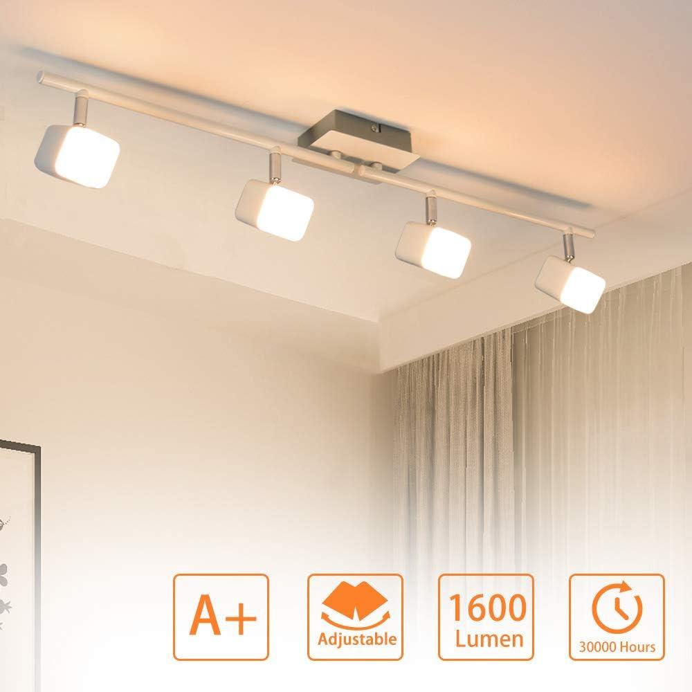 Hochwertige Deckenlampe Spotleuchte Chrom Wohnzimmer Höhe 8,5 cm Beleuchtung
