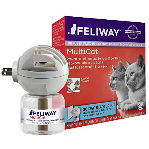 Feliway MultiCat Calming Diffuser Kit (30 Day Starter Kit), Vet Recommended, Reduce Fighting and Conflict Among Cats