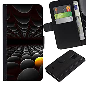 All Phone Most Case / Oferta Especial Cáscara Funda de cuero Monedero Cubierta de proteccion Caso / Wallet Case for Samsung Galaxy S5 Mini, SM-G800 // Abstract Yellow Black