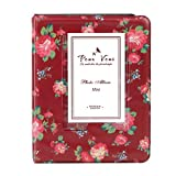 Insho 3 inch Vintage Floral Instant Camera Album Book for Instax Mini 8 8+ 9 70 7s 25 26 50s 90,Phone Printer Pictures,Polaroid Snap,Lomo,Sofort Films Camera- Red