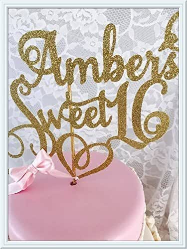 Amazon.com: Sweet 16 Cake Topper: Handmade