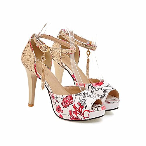 Sandals summer low slotted high-heel shoes thick with fish mouth ladies -