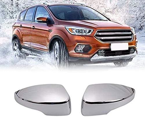 GHDBHFD New-Side Spiegelabdeckungen R/ückspiegel Au/ßenabdeckung//passend for Ford Escape Kuga 2013-2019 Chrome 2Pcs