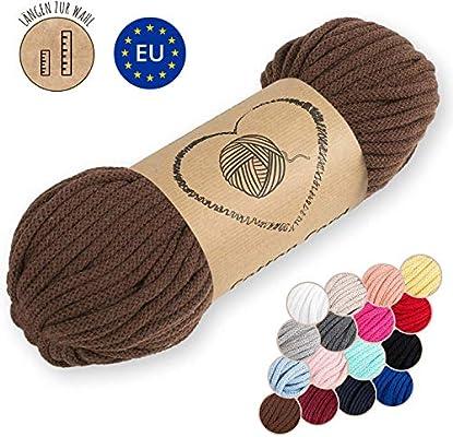 Amazinggirl Hilo Macrame 5 mm trapillo bobinas - Cuerda Algodon Cordon para Trenzado Tejer a Crochet Manualidades Marron: Amazon.es: Hogar