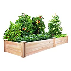 Greenes Cedar Raised Garden Kit 2 Ft. X 8 Ft. X 10.5 In. makes creating a bountiful garden easy. The dovetail joints make frame assembly a breeze: Simply slide the boards by hand into the corner joints for a solid and secure garden frame. Set...
