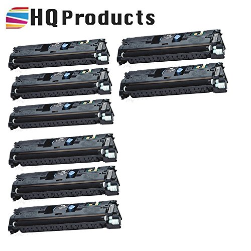 2500 Series Printer Color (HQ Products Remanufactured Replacement HP 121A 8Pk Black (C9700A) Toner Cartridges set for use in HP Color Laserjet 1500 2500, 2500n, 1500L, 2500tn, 1500Lxi, 2500, 2500, 2500Lse Series Printers.)
