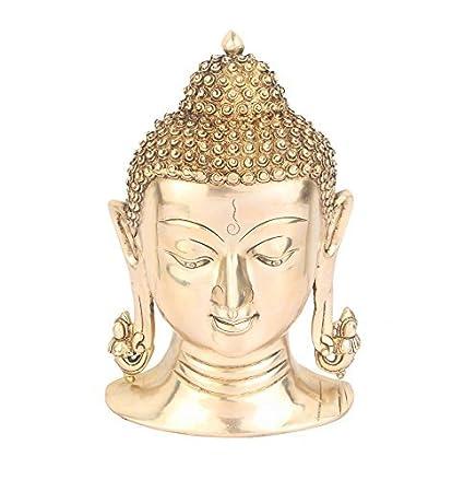 StatueStudio vzi036 latón Indio Dios Señor Ganpati de máscara de Buda para Colgar en la Pared