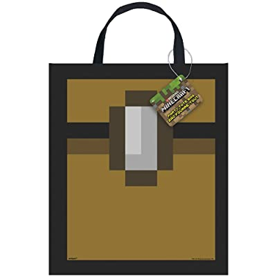 "Unique Minecraft Party Tote Bag, 13"" x 11"": Toys & Games"