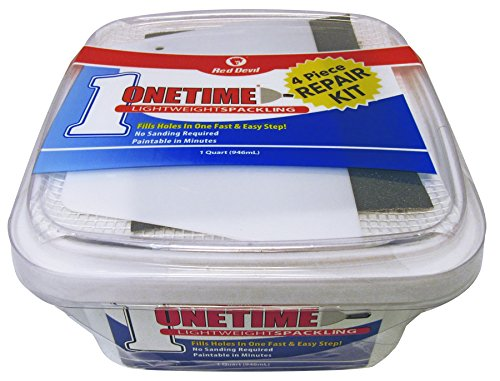 Red Devil 0544KT Onetime Qt Square W Wall Repair Kit (Kit Repair Spackle Wall)