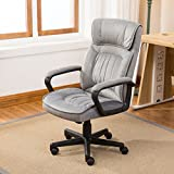 Gray Microfiber Office Chair With Ebook