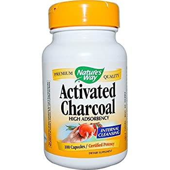 Nature's Way Activated Charcoal High Absorbency Supplement, 100 Count (Pack of 2)