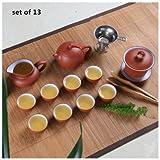 China Ceramic Tea-pot/Glass Gaiwan Kung Fu Tea Set,Ceramic Teapot ,Chinese Tea Cup,Teapot (Brown)