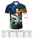 RAISEVERN Men's Hawaiian Dress Shirt Casual Galaxy