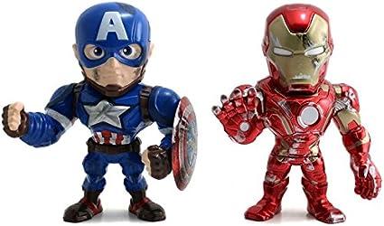 """Jada Iron man figures 4/"""" en métal Marvel"""