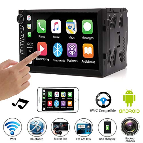 (Double Din Android Car Stereo 7 Inch Touch Screen Car Radio for 2004-2009 Dodge Ram 1500 2500 3500 Support Mirror Link (IOS and Android) Bluetooth WiFi Steering Wheel Control GPS)