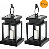 Solar Light,Elelink LED Solar Mission Lantern, Vintage Solar Powered Waterproof Hanging Umbrella Lantern Candle Lights , Lighting & Decoration Clamp Beach Tree Pavilion Garden Yard Lawn Etc (2 Pack)