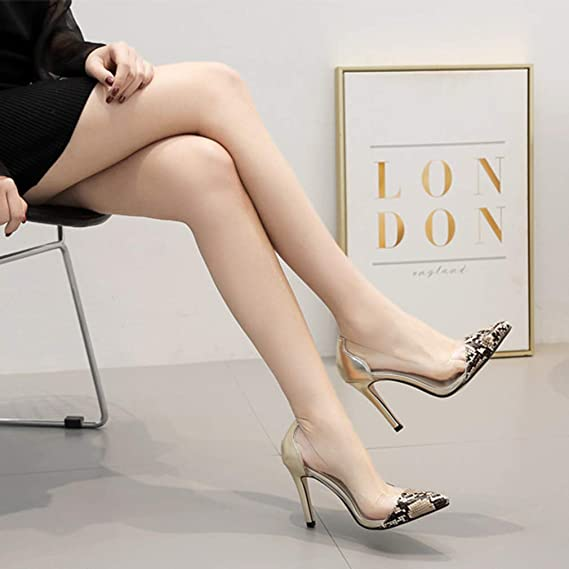 cd1f637949b8f Amazon.com: YXB Women's High Heels 2019 New Pumps Microfiber Fashion ...