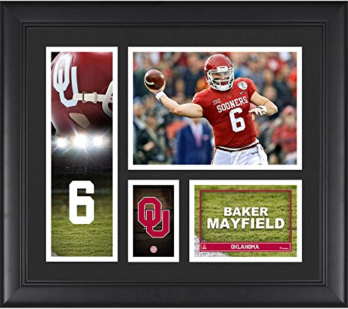 "Baker Mayfield Oklahoma Sooners Framed 15"" x 17"" Player Collage - College Player Plaques and Collages by Sports..."